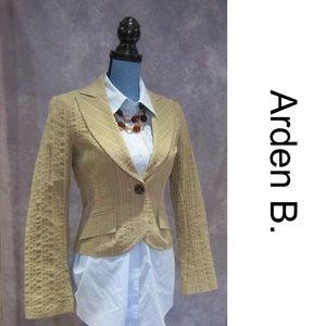 NEW Arden B. Khaki One Button Blazer Size M